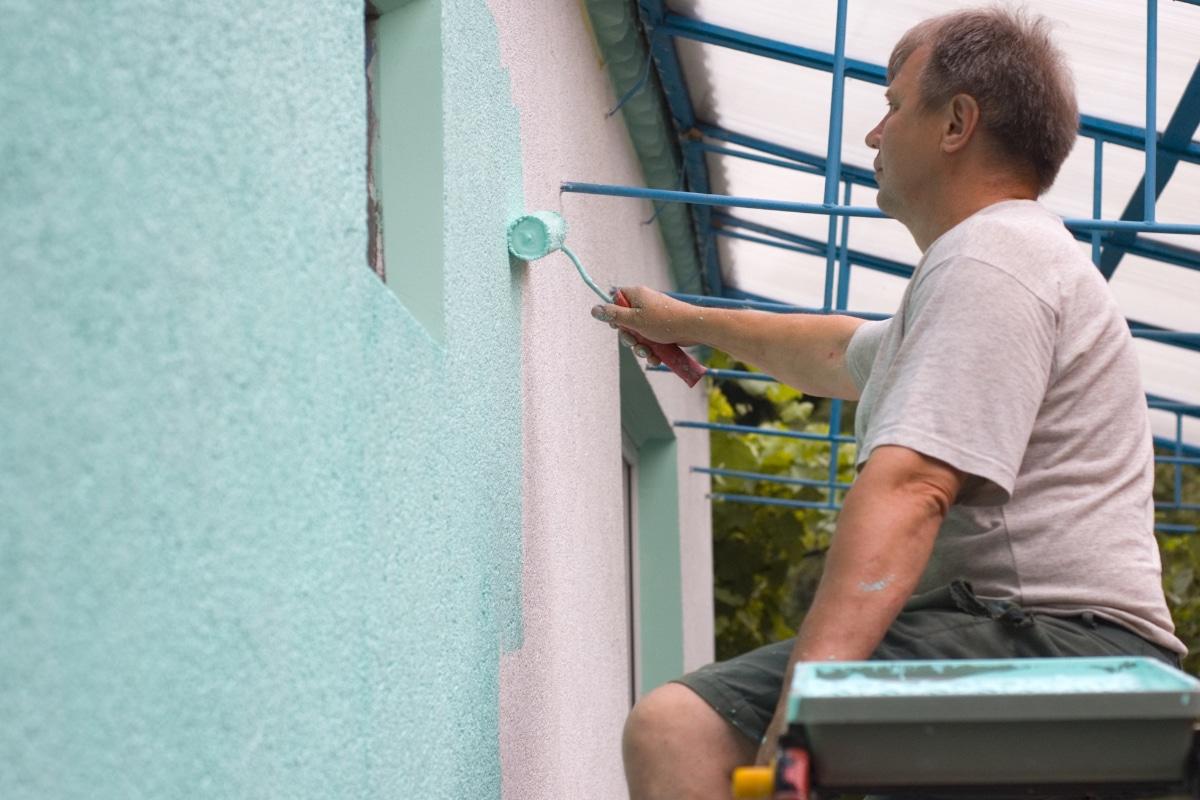 crepi herstellen door te schilderen